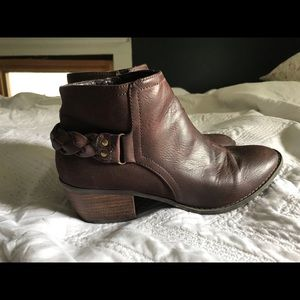 American eagle braided brown bootie